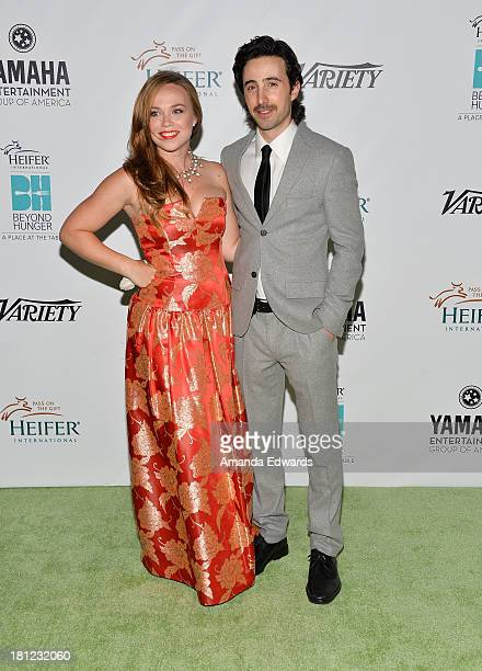 Actress Amanda Fuller and actor Josh Zuckerman arrive at the 2nd Annual Beyond Hunger A Place At The Table Benefit Honoring Susan Sarandon at Montage...