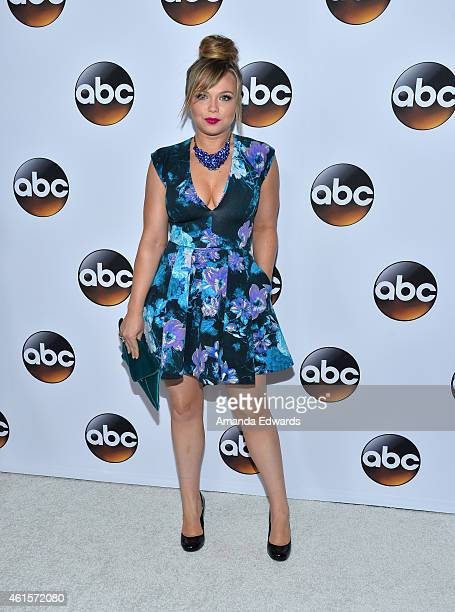 Actress Amanda Fuller arrives at the ABC TCA Winter Press Tour 2015 Red Carpet on January 14 2015 in Pasadena California