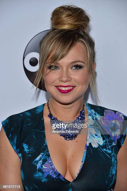 Actress Amanda Fuller arrives at the ABC TCA 'Winter Press Tour 2015' Red Carpet on January 14 2015 in Pasadena California