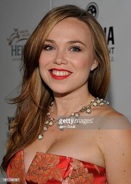Actress Amanda Fuller attends Heifer International's 2nd Annual 'Beyond Hunger A Place at the Table' to Help End World Hunger and Poverty at Montage...