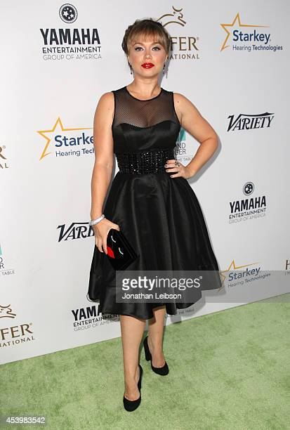 Actress Amanda Fuller attends Heifer International's 3rd Annual Beyond Hunger A Place At The Table Gala at Montage Beverly Hills on August 22 2014 in...