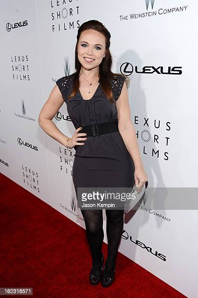 Actress Amanda Fuller attends Lexus Short Film Series Life Is Amazing presented by The Weinstein Company and Lexus at DGA Theater on February 21 2013...