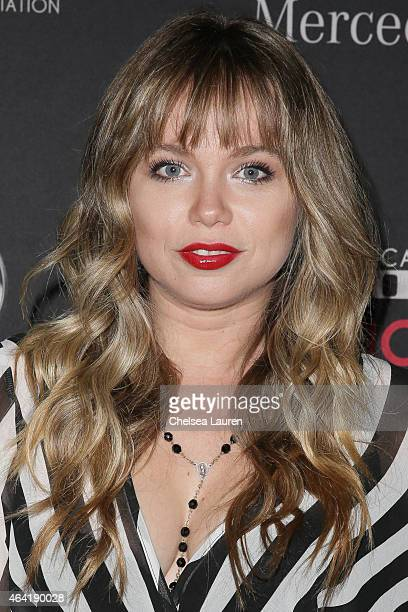 Actress Amanda Fuller attends MercedesBenz USA and African American Film Critics Association Academy Awards viewing party on February 22 2015 in Los...