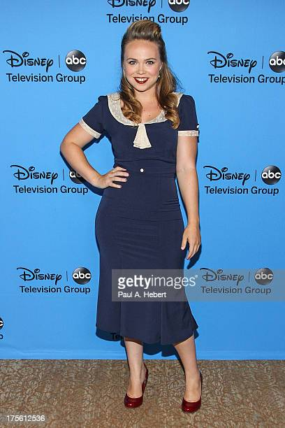 Actress Amanda Fuller attends the Disney ABC Television Group's 2013 Summer TCA Tour at The Beverly Hilton Hotel on August 4 2013 in Beverly Hills...