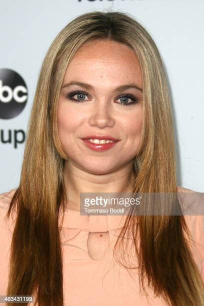 Actress Amanda Fuller attends the Disney ABC Television Group's 2014 winter TCA party held at The Langham Huntington Hotel and Spa on January 17 2014...