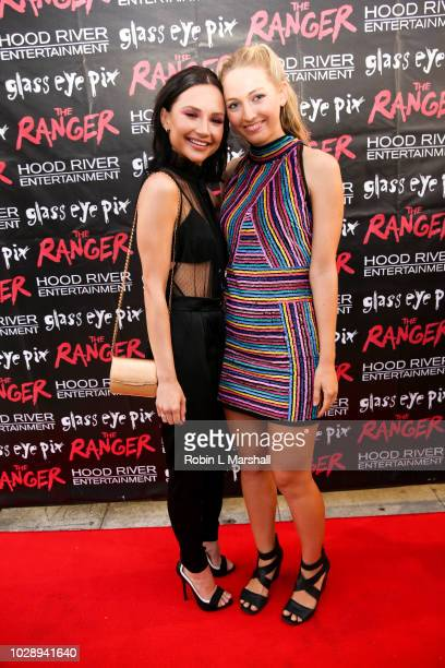 "Actress Amanda Grace Benitez and Luca Bella Facinelli attend the premiere of Hood River Entertainment and Glass Eye Pix's ""The Ranger"" at Laemmle..."