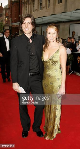 Actress Amanda Holden and her finacee music producer Chris Hughes arrive at the Pioneer British Academy Television Awards 2006 at the Grosvenor House...