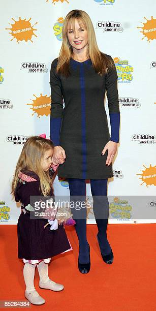 Actress Amanda Holden and hwe daughter Alexa Lexi Louise Florence Hughes arrive for the SpongeBob SquarePants The Sponge Who Could Fly gala...