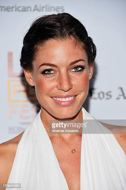 Actress Amanda Kimmel arrives at the 'All Together Now' premiere during the 2013 Los Angeles Film Festival at Regal Cinemas LA Live on June 15 2013...