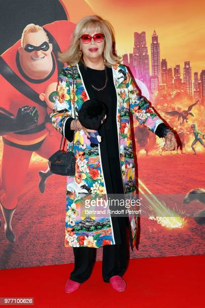 Actress Amanda Lear attends the Les Indestructibles 2 Paris Special Screening at Le Grand Rex on June 17 2018 in Paris France