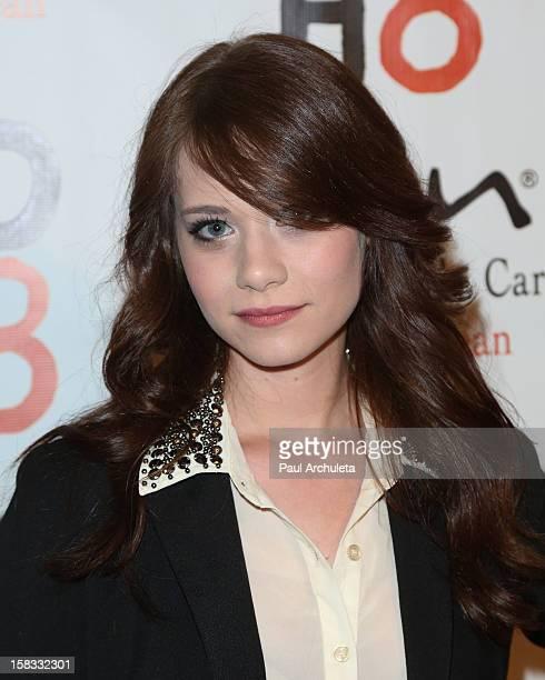 Actress Amanda Leighton attends 4th anniversary NOH8 campaign celebration at Avalon on December 12 2012 in Hollywood California