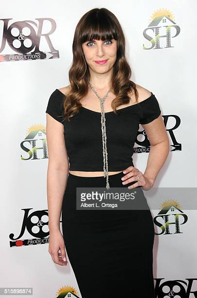 Actress Amanda Markowitz arrives for the Premiere Of JR Productions' Halloweed held at TCL Chinese 6 Theatres on March 15 2016 in Hollywood California