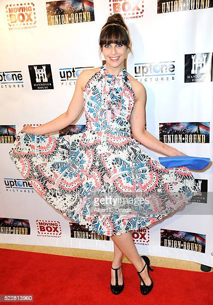 Actress Amanda Markowitz arrives for the Union Bound West Coast Premiere held at Linwood Dunn Theater at the Pickford Center for Motion Study on...