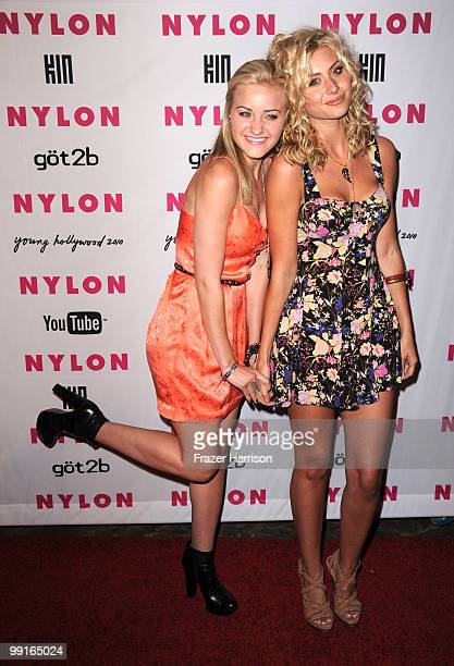 Actress' Amanda Michalka and Alyson Michalka arrive at the NYLON YouTube Young Hollywood Party at the Roosevelt Hotel on May 12 2010 in Hollywood...