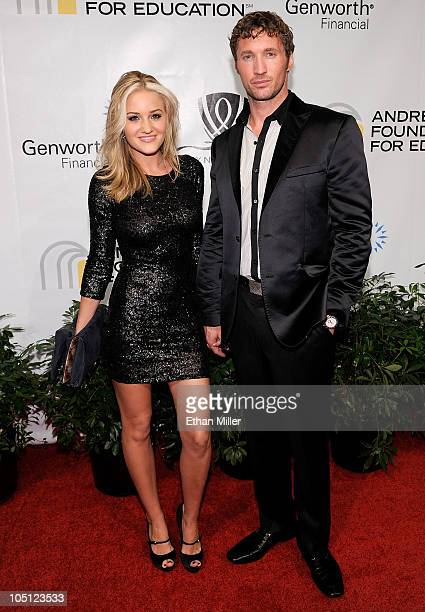 Actress Amanda Michalka and Ryan Blair arrive at the Andre Agassi Foundation for Education's 15th Grand Slam for Children benefit concert at the Wynn...