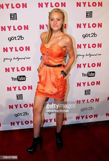 Actress Amanda Michalka arrives at NYLON'S May Young Hollywood Event at Roosevelt Hotel on May 12 2010 in Hollywood California