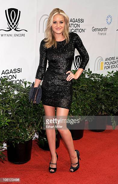 Actress Amanda Michalka arrives at the Andre Agassi Foundation for Education's 15th Grand Slam for Children benefit concert at the Wynn Las Vegas...