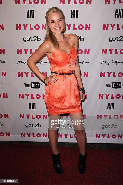 Actress Amanda Michalka arrives at the NYLON YouTube Young Hollywood Party at the Roosevelt Hotel on May 12 2010 in Hollywood California