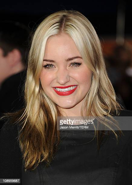 Actress Amanda Michalka arrives at the premiere of DreamWorks Pictures' 'I Am Number Four' at Village Theatre on February 9 2011 in Westwood...