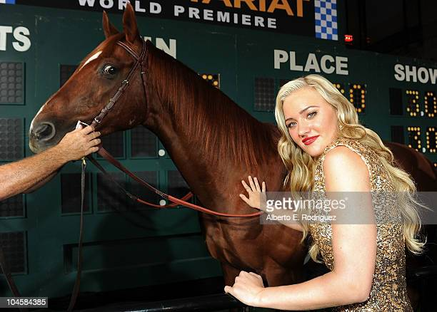 Actress Amanda Michalka arrives at the premiere of Walt Disney Pictures' Secretariat at the El Capitan Theatre on September 30 2010 in Hollywood...