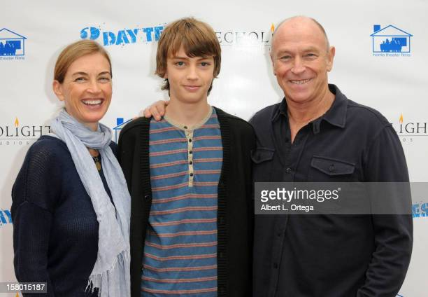 Actress Amanda Pays son Finley Bernsen and actor/director Corbin Bernsen arrive for the Screening Of 3 Day Test Arrivals held at Downtown Independent...