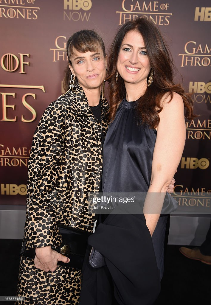 Actress Amanda Peet and Andrea Troyer attend HBO's 'Game of Thrones' Season 5 Premiere and After Party at the San Francisco Opera House on March 23, 2015 in San Francisco, California.