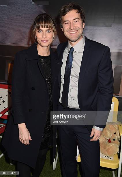 """Actress Amanda Peet and creator/executive producer/writer/actor Mark Duplass attend HBO's """"Togetherness"""" Los Angeles Premiere And After Party at..."""