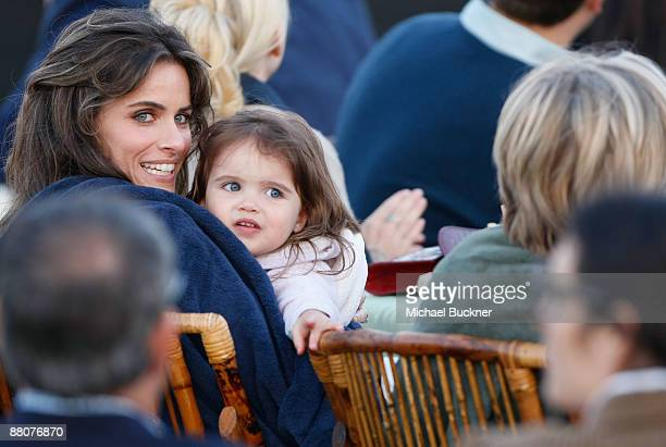 Actress Amanda Peet and daughter Frances Pen Benioff attend Michael J Fox Foundation For Parkinson's Research Summer Lawn Party held at a Private...