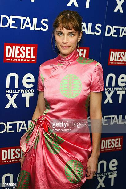 Actress Amanda Peet arrives at Details Magazine's party to celebrate their Next Big Thing issue at the Avalon Hotel on March 14 2003 in Beverly Hills...