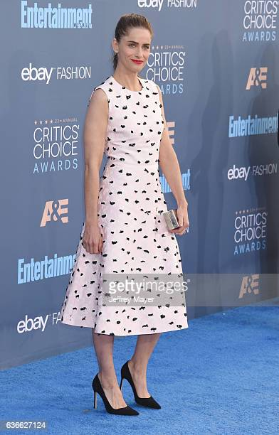 Actress Amanda Peet arrives at The 22nd Annual Critics' Choice Awards at Barker Hangar on December 11 2016 in Santa Monica California