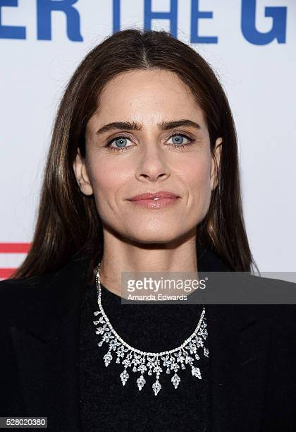 Actress Amanda Peet arrives at the premiere of EPIX's Under The Gun at the Samuel Goldwyn Theater on May 3 2016 in Beverly Hills California