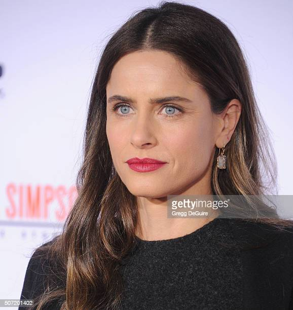Actress Amanda Peet arrives at the premiere of 'FX's 'American Crime Story The People V OJ Simpson' at Westwood Village Theatre on January 27 2016 in...