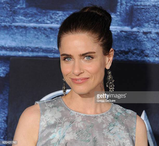 Actress Amanda Peet arrives at the premiere of HBO's 'Game Of Thrones' Season 6 at TCL Chinese Theatre on April 10 2016 in Hollywood California