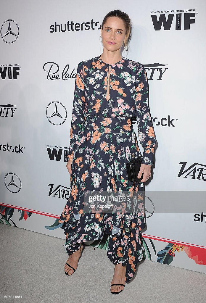 Actress Amanda Peet arrives at Variety And Women In Film's Pre-Emmy Celebration at Gracias Madre on September 16, 2016 in West Hollywood, California.