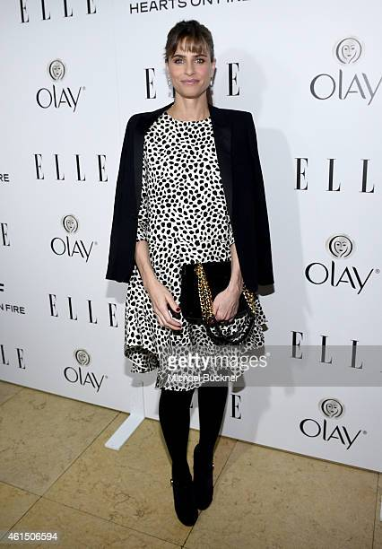 Actress Amanda Peet attends ELLE's Annual Women in Television Celebration on January 13 2015 at Sunset Tower in West Hollywood California Presented...