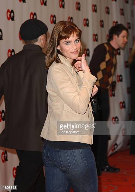 Actress Amanda Peet attends GQ Magazine Celebrates Their Annual Hollywood Issue at the GQ Lounge at White Lotus on February 20 2003 in Hollywood...