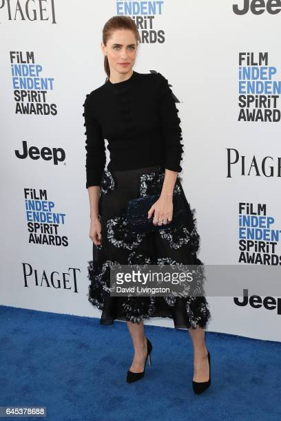 Actress Amanda Peet attends the 2017 Film Independent Spirit Awards on February 25 2017 in Santa Monica California