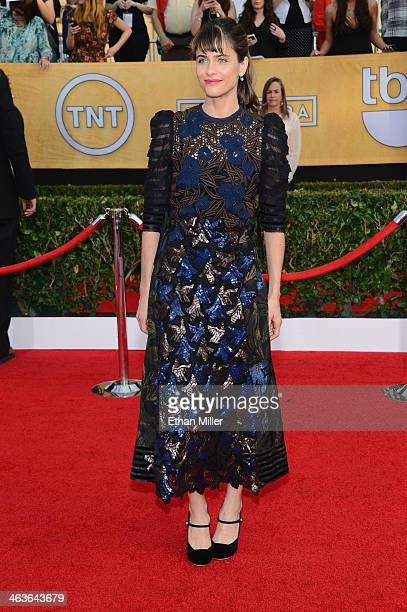 Actress Amanda Peet attends the 20th Annual Screen Actors Guild Awards at The Shrine Auditorium on January 18 2014 in Los Angeles California