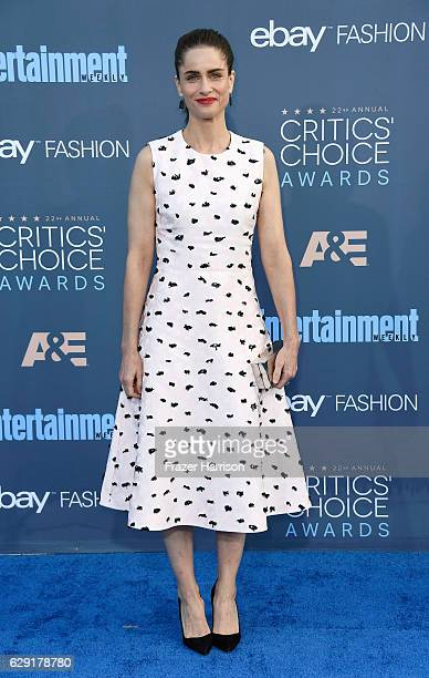 Actress Amanda Peet attends The 22nd Annual Critics' Choice Awards at Barker Hangar on December 11 2016 in Santa Monica California