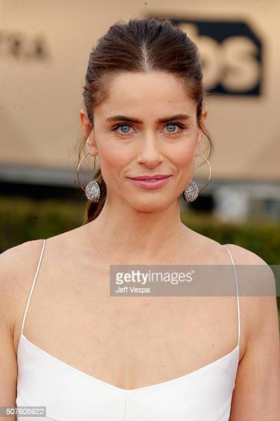 Actress Amanda Peet attends the 22nd Annual Screen Actors Guild Awards at The Shrine Auditorium on January 30 2016 in Los Angeles California
