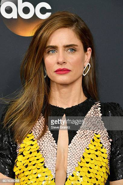 Actress Amanda Peet attends the 68th Annual Primetime Emmy Awards at Microsoft Theater on September 18 2016 in Los Angeles California