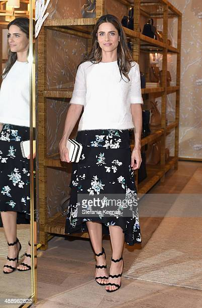 Actress Amanda Peet attends the Glamour Women To Watch Lunch hosted by Cindi Leive at the Tory Burch Boutique Beverly Hills on September 18 2015 in...
