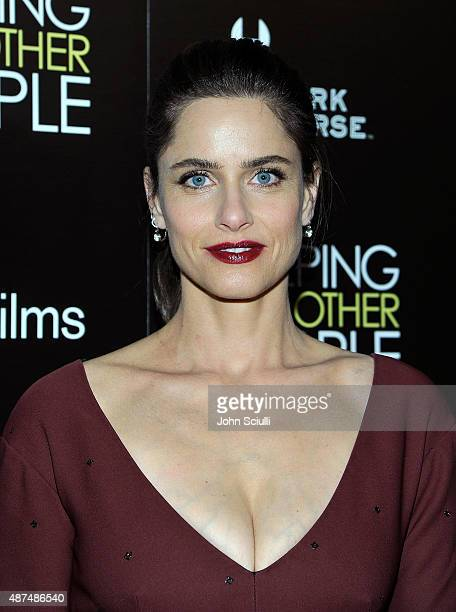 Actress Amanda Peet attends the Los Angeles premiere of IFC Films Sleeping with Other People presented by Dark Horse Wine on September 9 2015 in Los...