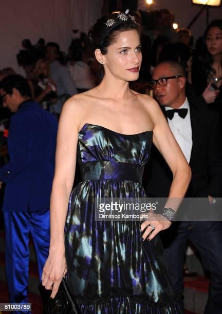 Actress Amanda Peet attends the Metropolitan Museum of Art Costume Institute Gala 'Superheroes Fashion And Fantasy' at the Metropolitan Museum of Art...
