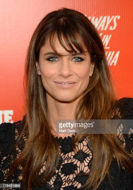 """Actress Amanda Peet attends the premiere and launch party for FXX Network's """"It's Always Sunny In Philadelphia"""" and """"The League"""" at Lure on September..."""