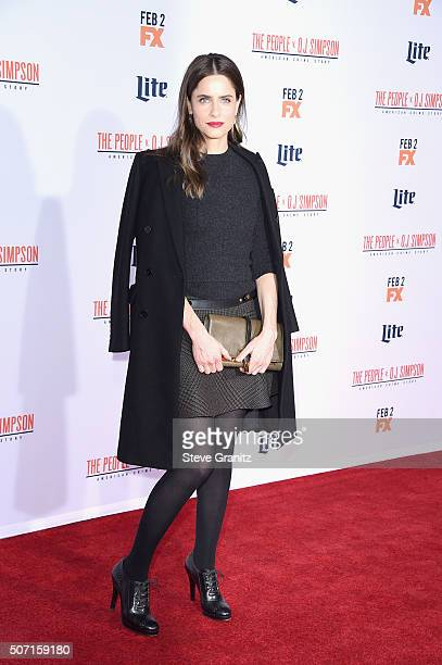 Actress Amanda Peet attends the premiere of 'FX's 'American Crime Story The People V OJ Simpson' at Westwood Village Theatre on January 27 2016 in...