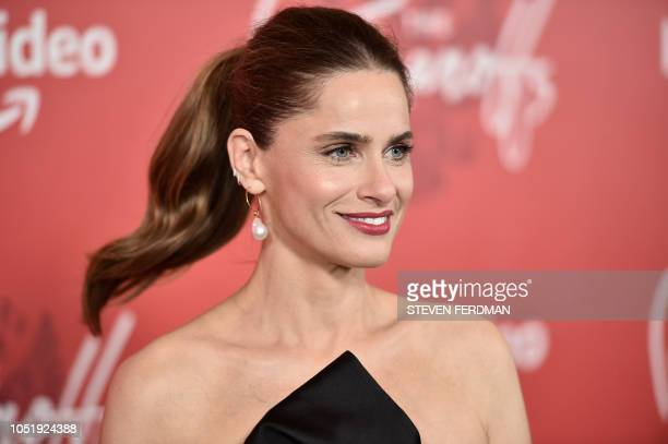 US actress Amanda Peet attends the premiere of the Amazon Prime Video web TV series 'The Romanoffs' at the Russian Tea Room in New York on October 11...