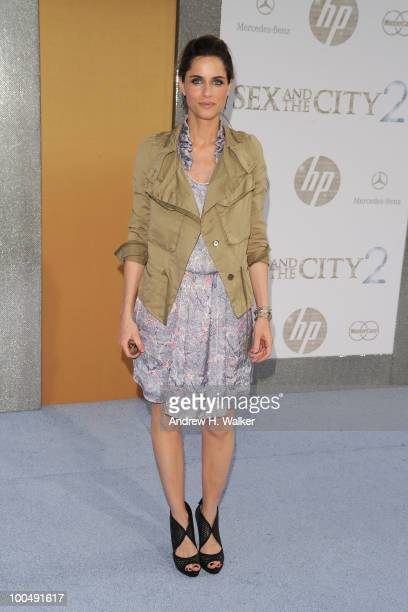 Actress Amanda Peet attends the Sex And The City 2 Premiere presented by MercedesBenz And Maybach at Radio City Music Hall on May 24 2010 in New York...
