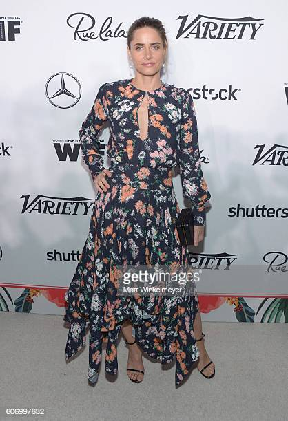 Actress Amanda Peet attends Variety and Women in Film's PreEmmy Celebration at Gracias Madre on September 16 2016 in West Hollywood California