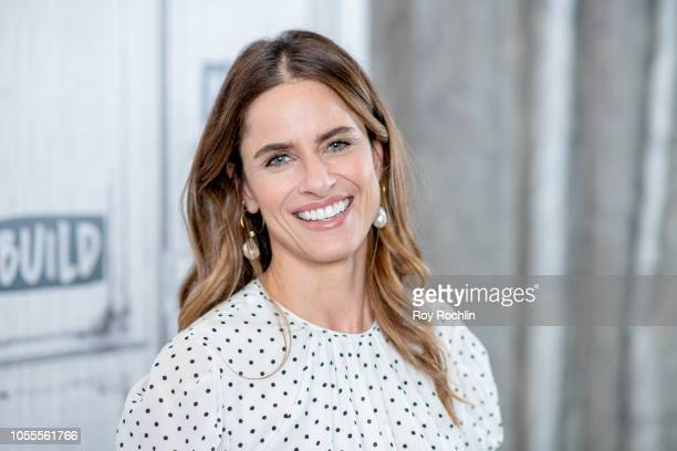 """Actress Amanda Peet discusses """"The Romanoffs"""" with the Buld Series at Build Studio on October 30, 2018 in New York City."""